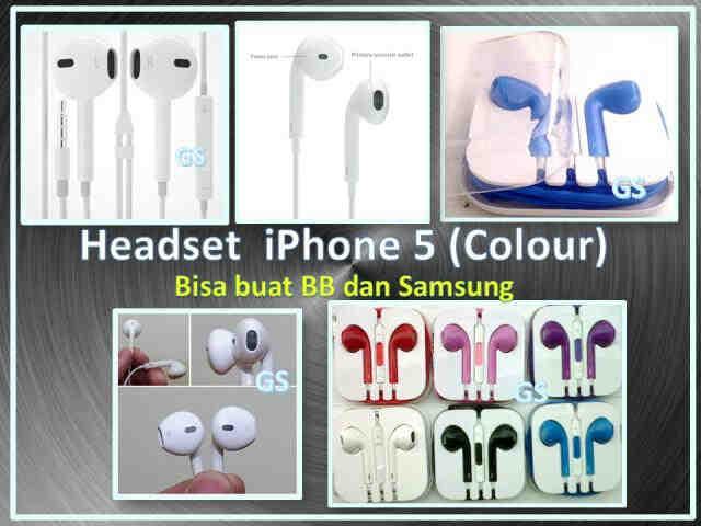 Headset iphone 5 warna