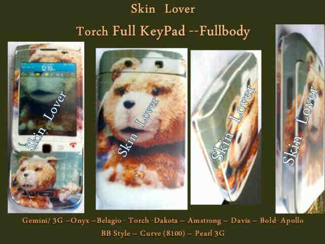 GARSKIN BLACKBERRY TED BEAR