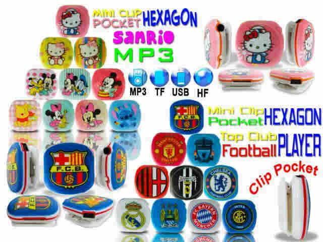 Distributor MP3 Hexagon Football+Clip Berkualitas