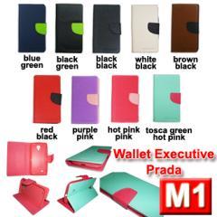 Distributor Terlengkap Sarung Hp Wallet Prada M1 Executive