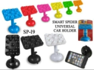 "*NEW SMART SPIDER CAR HOLDER UNIVERSAL ""RUBBER"""