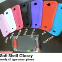 Grosir soft shell glossy hp tipe lengkap