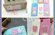 Grosir Case HP Softshell Macaron Rabbit Swarovki Murah