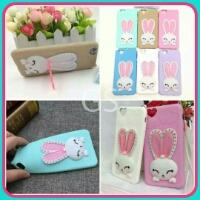 Grosir Case HP Softshell Macaron Rabbit Swarovki Murah