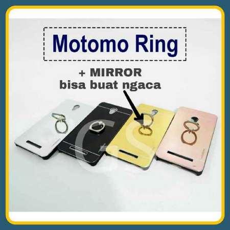 Distributor Terlengkap dan Murah Case Hp Motomo Mirror+Ring Stand