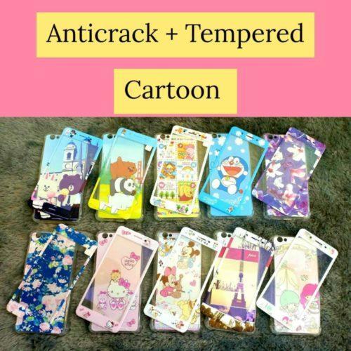 Distributor Terlengkap Anticrack+Tempered Glass Cartoon