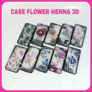 Grosir Case Flower Henna 3D TERBARU