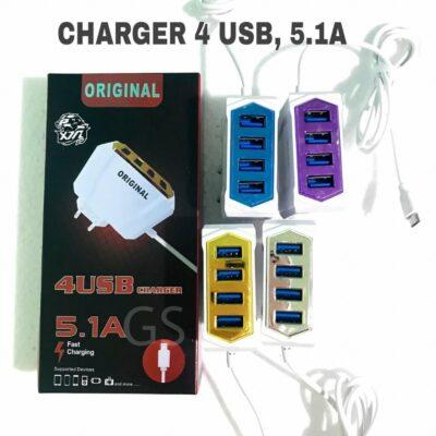 Distributor Termurah Charger 4 USB Di Jakarta