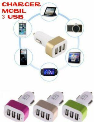 Distributor Charger Mobil 3 USB Terlengkap