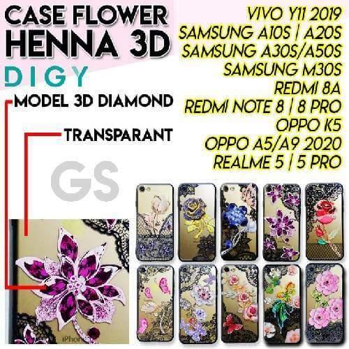 Case hp bergambar motif bunga