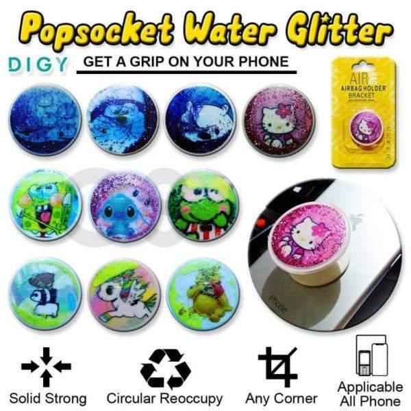 Popsocket water glitter