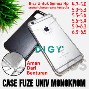 Grosir Distributor Case Fuze Glass Universal Monokrom Murah Jakarta