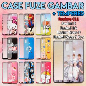Grosir Distributor Case Fuze Gambar + Tempered Murah Jakarta