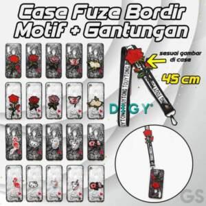 Grosir Distributor Case Fuze Bordir Motif + Gantungan Pendek Murah Jakarta
