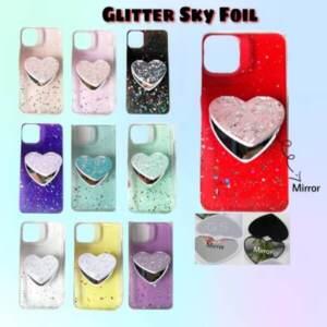 Jual Case Glitter Sky Foil + Ring Mirror Love Kekinian Murah - Jakarta