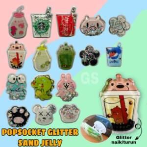 Grosir Distributor Popsocket Glitter Sand Jelly Kekinian Jakarta