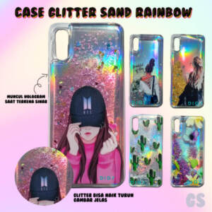 Grosir Distributor Softcase Glitter Sand Rainbow Murah Kekinian - Jakarta