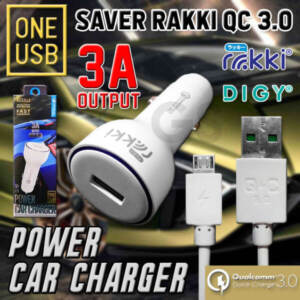 Grosir Distributor Car Charger Rakki | Charger Mobil QC 3.0 | Murah dan Terlengkap - Jakarta