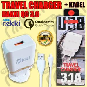 Grosir Distributor Travel Charger + Kabel Data QC 3.0 Termurah - Jakarta