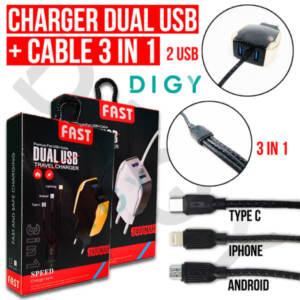 Grosir Distributor Charger + Kabel 3 in 1 Murah dan Berkualitas - Jakarta