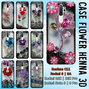 Grosir Distributor Case Hp Bergambar Flower Henna 3D Termurah - Jakarta