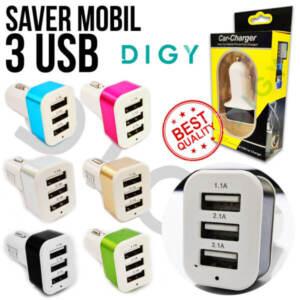 Grosir Distributor Car Charger 3 USB | Charger Mobil 3 in 1 Murah - Jakarta