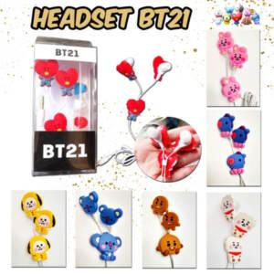 Supplier Termurah Headset Gaya Korea Earphone Kpop BTS BT21 Bangtan Boys