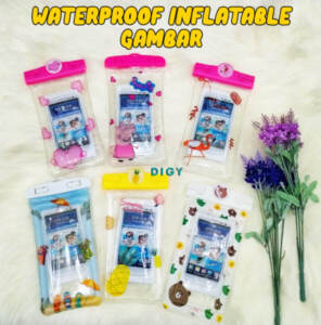 Grosir Termurah Waterproof Sarung Hp Anti Air Pelindung Hp Waterproof Inflatable Boneka