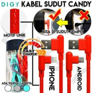 Grosir Distributor Kabel Data Sudut Candy Micro dan Iphone - Jakarta