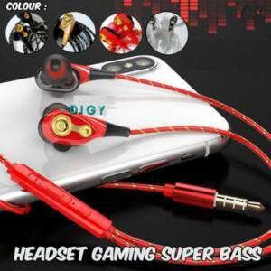Grosir Termurah Earphone Kabel Gaming Headset Super Bass Stereo Headphone dengan Mikrofon Earbud untuk Ponsel Komputer