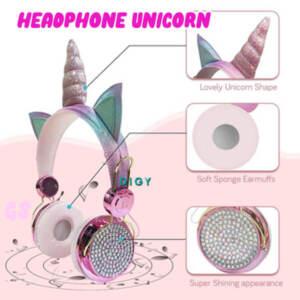 Grosir Termurah Headphone Anak Motif Kartun Unicorn