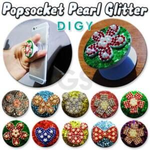 Grosir Distributor Popsocket 3D Pearl Glitter Diamond Kupu kupu Bunga