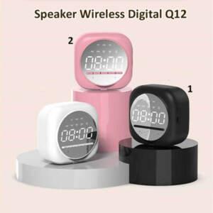 Grosir Jam Speaker Q12 Digital Bluetooth Wireless Bass
