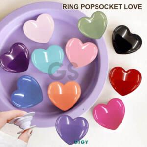 Grosir Ring Popsocket Candy Glossy Bentuk Love
