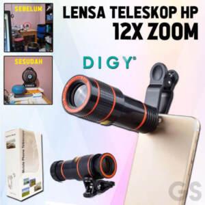 Grosir Lensa Kamera Hp 12X Zoom Teleskop