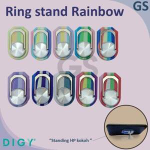 Grosir Ring Stand Holder Putar Rainbow Bahan Metal