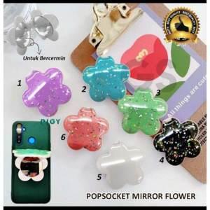 Grosir Ring Stand Hp/ Popsocket Mirror Flower Termurah