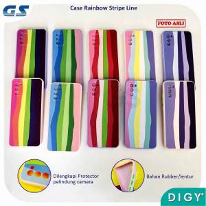 Pusat Grosir Termurah Softcase Rainbow Stripe Line
