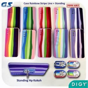 Grosir Distributor Cute Rainbow Case Holder Standing