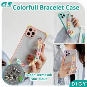 Grosir Bracelet Rainbow Chain Case Hp Lucu