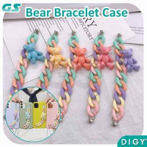 Grosir Aksesories Hp Kekinian Chain Bear Bracelet untuk Case Hp