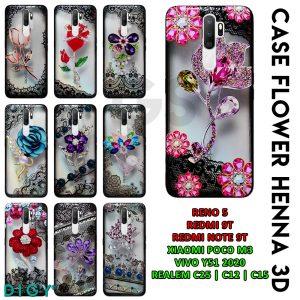 Supplier Case Hp Android Flower Henna 3D Dijakarta